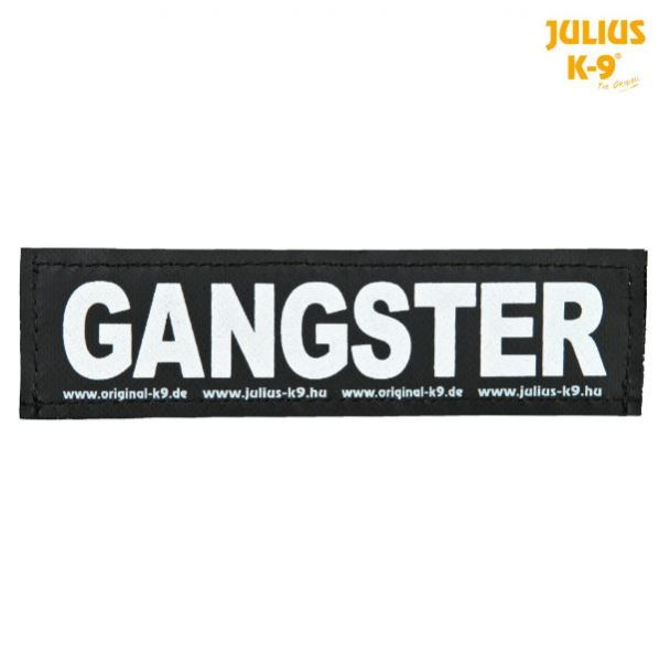 2 Julius-K9 Klettsticker L, GANGSTER
