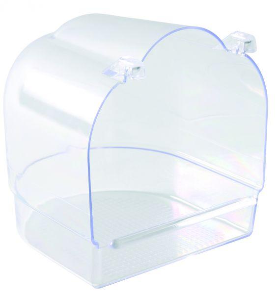 Badehaus, transparent, 13×12×13 cm