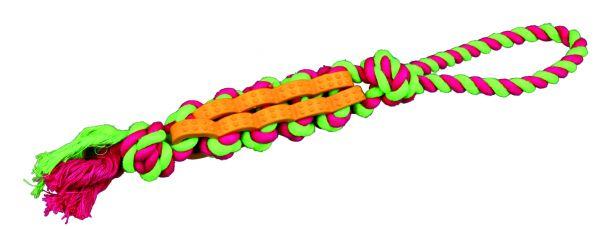 Denta Fun Twisted Stick am Tau, Naturgummi 4 cm/37 cm