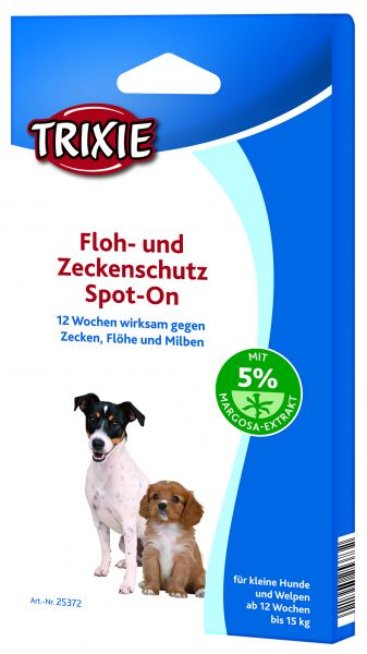 Floh- und Zeckenschutz Spot-On, kleine Hunde, 3 × 1,5 ml