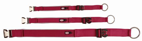Experience Halsband, extra breit XS-S: 30-40 cm/25 mm, weinrot