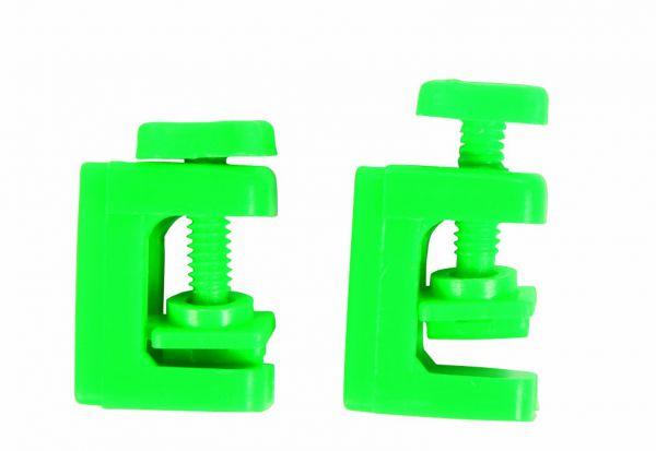 2 Schlauchklemmen, ø 5 mm, grün