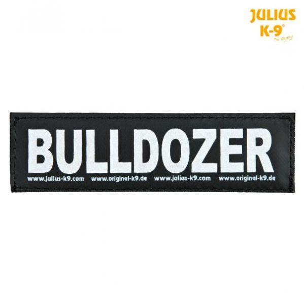 2 Julius-K9 Klettsticker L, BULLDOZER