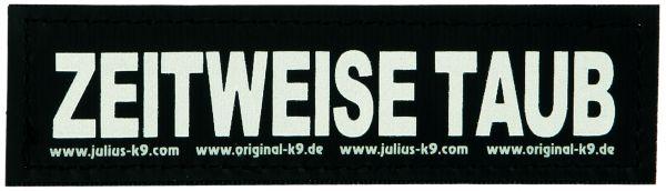 2 Julius-K9 Klettsticker L, ZEITWEISE TAUB