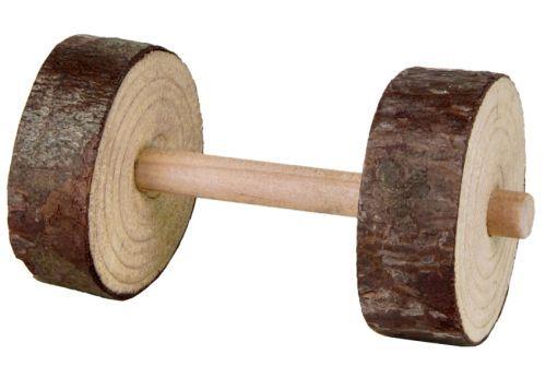 2 Naturholz-Hanteln, 9 × ø 4,5 cm