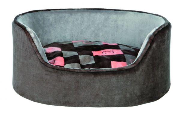 Bett Currito, 100 × 75 cm, grau/lachs