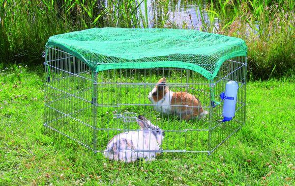 Freilaufgehege mit Netz, Kleintiere, verzinkt, 6 Elemente à 63×60 cm