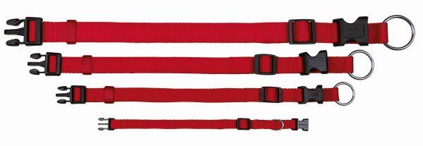 Classic Halsband S-M: 30-45 cm/15 mm, rot