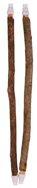 2 Sitzstangen, Naturholz, 35 cm/ø 10 & 12 mm