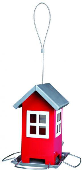 Futterhaus, 19 × 20 × 19 cm, rot/silber