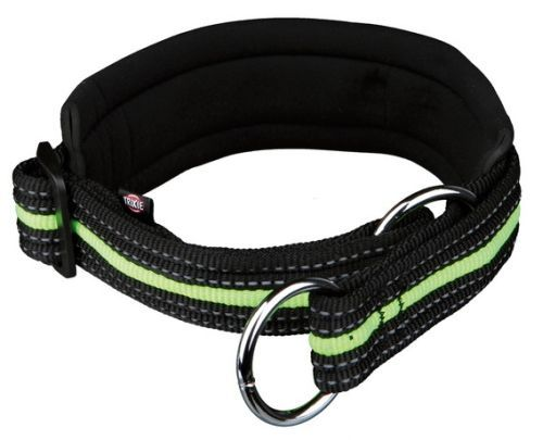 Fusion Zug-Stopp-Halsband, M: 40-46 cm/30 mm, schwarz/grün