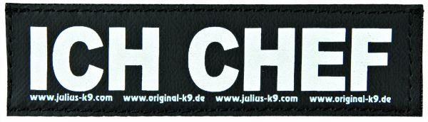 2 Julius-K9 Klettsticker S, ICH CHEF