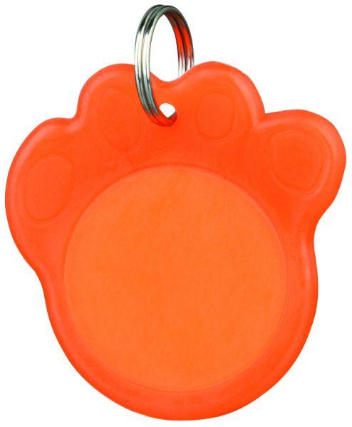 Adressanhänger, phosphoreszierend ø 3,5 cm, orange
