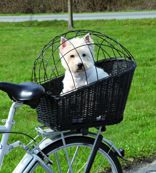 Fahrradkorb mit Gitter, für Gepäckträger, 35 × 49 × 55 cm, schwarz