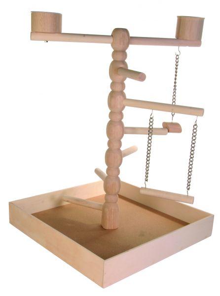 Holzspielplatz für Papageien, 41×55×41 cm