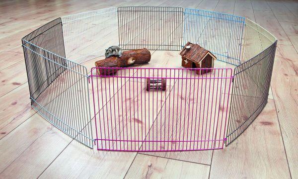 Freilaufgehege für Kleintiere Joy, 8 Elemente à 34 × 23 cm