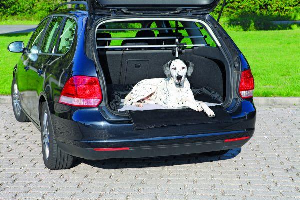 Autobett, Nylon/Fleece, 95×75 cm, schwarz-grau