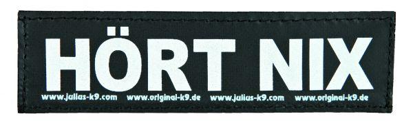2 Julius-K9 Klettsticker S, HÖRT NIX