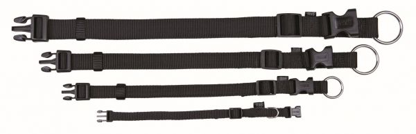 Classic Halsband L-XL: 40-65 cm/25 mm, schwarz