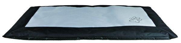 Decke Drago, 100×70 cm, schwarz/grau