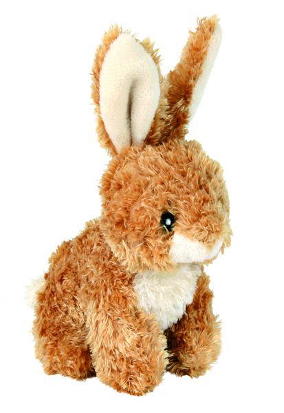 4 Kaninchen, Plüsch, 15 cm