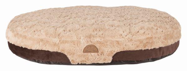 Kissen Malu, 60 × 40 cm, braun/hellbraun