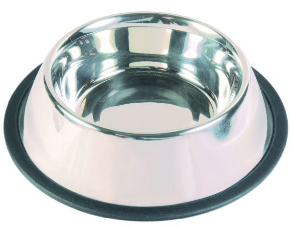 Edelstahlnapf mit Gummiring, 0,9 l/ø 17 cm