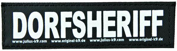2 Julius-K9 Klettsticker S, DORFSHERIFF