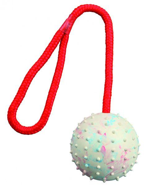 Ball am Seil, Naturgummi, ø 7 cm/30 cm