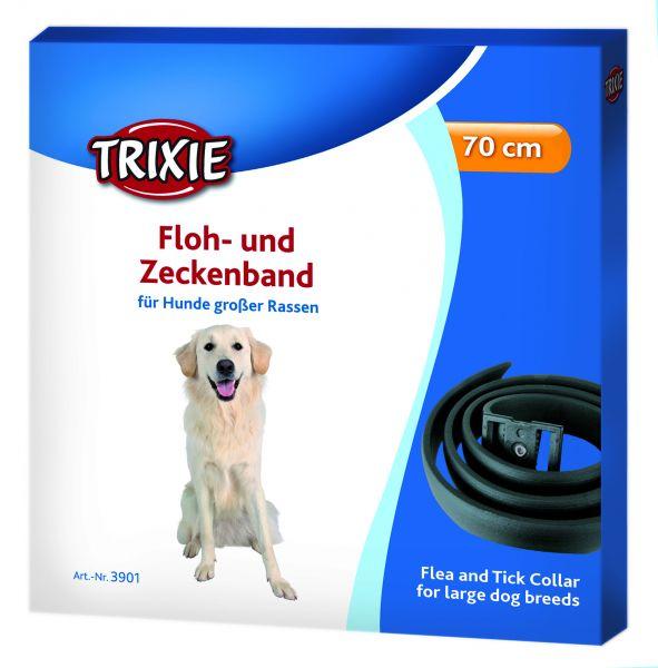 Floh- und Zeckenband, große Hunde 65 cm, schwarz