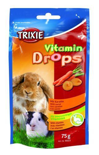 Esquisita Vitamin-Drops für Kleintiere, Karotte, 75 g